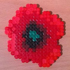 Poppy perler beads by  silva_stars_v