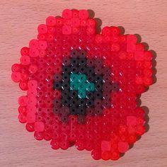 Poppy perler beads by  silva_stars_v
