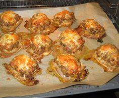 Rezept Überbackene Brötchen mit Hackfleisch und Paprika von sannetaucht - Rezept der Kategorie Hauptgerichte mit Fleisch
