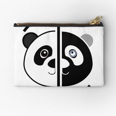 Panda Head, Zipper Pouch, Are You The One, Coin Purse, Wallet, Art Prints, Printed, Awesome, Cards