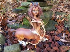 "OOAK Centaur Princess Monster High Custom""Repaint & Body Mods, Faerie Fairy #MonsterHigh"
