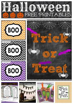 Halloween Printables {FREE} Cupcake Toppers, Banners, Bookmarks, Invitations, Signs & More