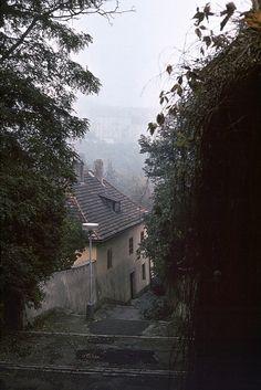 Czech Republic - End of Vlašská Street in Prague Prague, Outdoor Steps, Heart Of Europe, Mystery Novels, Alchemy, Czech Republic, All Over The World, Culture, Memories