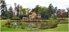 """The Hameau at the Palace of Versailles, a miniature village that Marie-Antoinette would have entirely designed with the help of Hubert Robert. """