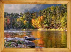 Obraz W RAMIE 25x35cm #Krajobraz Las Rzeka #Jesień (5675521954) - Allegro.pl - Więcej niż aukcje.