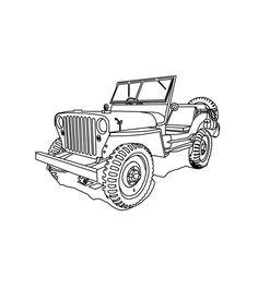 fun cj 3b high hood for the jeep coloring book