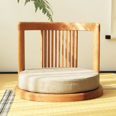 Zen Furniture, Dining Room Furniture Design, Wood Chair Design, Japanese Furniture, Japanese Chair, Japanese Bedroom, Japanese Home Decor, Tatami Room, Floor Seating