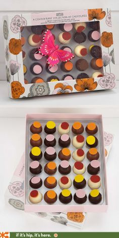 Beautifully boxed chocolates from Marks and Spencer.