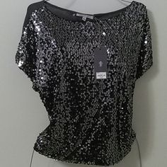 JENINFER LOPEZ TOP Sequined top Jennifer Lopez Tops Blouses