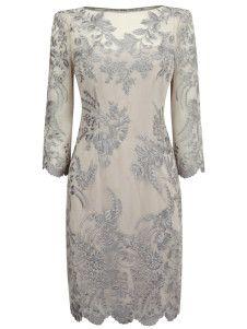 Apricot Lace Floral Organza Womans Party Dress