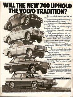 Volvo 740 Advert 1984