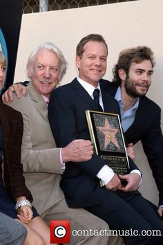 Kiefer Sutherland with father, Donald Sutherland and brother, Rossif