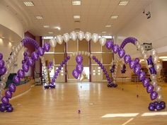 Use String of Pearl balloon arches to create or section off a dance floor for event.