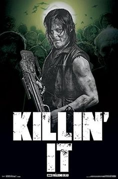 The Walking Dead Poster  Daryl  Killin it 555cm x 865cm  a Bora Bora poster *** Click image to review more details.Note:It is affiliate link to Amazon.