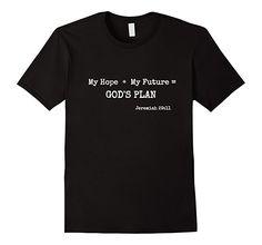 Mens My Hope Future Jeremiah 29:11 Men Women Children's T-Shirt 2XL Black