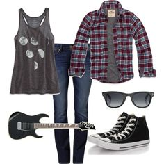 """Guitar chick"" by audirgirl on Polyvore"