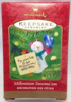 2000 Hallmark Keepsake Millennium Snowma'am Ornament Sculpted by Joanne Eschrich