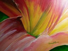 """Tiger Lily - I'm Ready for My Close Up 20""""X16"""" Acrylic on stretched canvas."""
