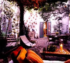 dream patio!  maybe we should just give up on grass and pave the whole side yard.  but keep a space open for a large tree.