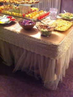 Beautiful tulle tablecloth