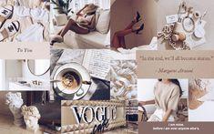 aesthetic beige laptop desktop wallpapers collage macbook vibey brown backgrounds screensaver vogue chanel marble vsco mac quotes makeup coffee iphone