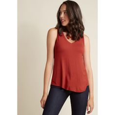 Endless Possibilities Tank Top (€21) ❤ liked on Polyvore featuring tops, apparel, knit top, red, short sleeve knit, red tank top, red v neck top, v-neck tank tops, red top and red singlet
