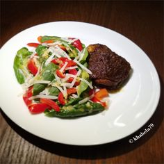 Dinner – Curry Rubbed Chicken and Red Bell Pepper Spinach Salad