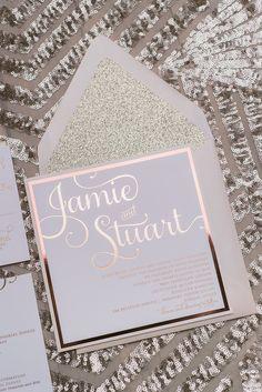 ADELE Suite Fancy Glitter Package, rose gold foil, rose gold glitter, square…