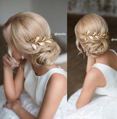 or prom hair? Wedding Hair And Makeup, Bridal Hair, Hair Makeup, Wedding Updo, Fancy Hairstyles, Bride Hairstyles, Bridesmaid Hair, Prom Hair, Hair Dos