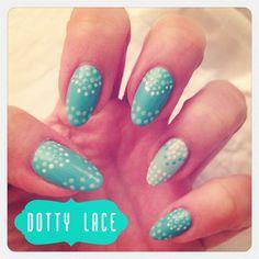 Dotty lace nail art