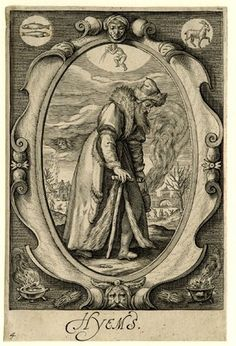 """Hyems"" by Jacob Matham, circa 1600 - Engraving"