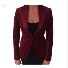 Elie Tahari Velvet Red Blazer Gorgeous 100% Authentic Elie Tahari Blazer. Fits a size 6 like a glove. Perfect condition. No signs of wear. Dress up any outfit with this unique, and special piece. Arms are nice and long. Flattering to any shape. Luxury item. Elie Tahari Jackets & Coats Blazers