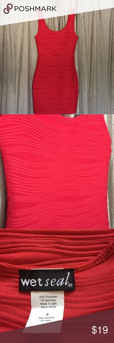 Beautiful red fitting dress Red Wet seal comfortable and beautiful dress   Never worn   New without a tag Wet Seal Dresses Midi