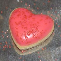 Pink Heart Butter Cookies - Happy Mother's Day :)