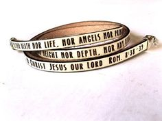 ***This verse is in production and will ship the end of FEBRUARY ***  Encouragement wraps around your wrist three times with this bracelet. Cut from