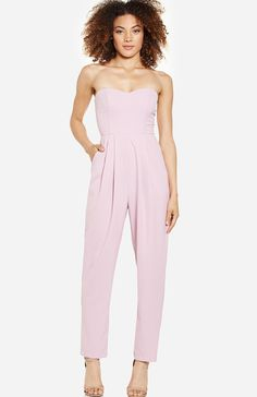 DailyLook: Chic Strapless Jumpsuit in Lavender L