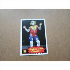 "2012 TOPPS WWE "" 1985  DESIGN "" BASE DOINK THE CLOWN.# 72"