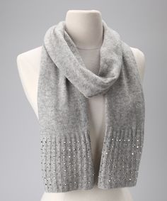 Fog Crystal Rib Cashmere Scarf | Daily deals for moms, babies and kids