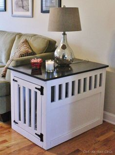Build a Dog House with One of These Free Plans: Indoor Dog Kennel End Table from Ana-White