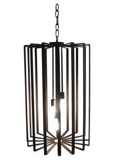 modern lantern with three downrods