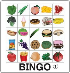 This pdf file includes 30 Food Bingo game boards and 40 images for use as draw cards. Also included is a Food Chart perfect for posting to a classroom board or pasting into students' notebooks! Check out the Digital Version Abc Bingo, Word Bingo, Primary Teaching, Teaching English, Nutrition Activities, Preschool Activities, Halloween Bingo, Healthy Afternoon Snacks, Healthy Snacks