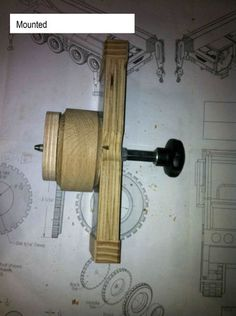 Wooden toys wheel making #2: Jig