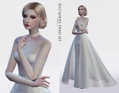 WHITE (Dress Special) poses at Flower Chamber via Sims 4 Updates  Check more at http://sims4updates.net/clothing/white-dress-special-poses-at-flower-chamber/