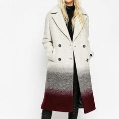 ASOS Double-Breasted Oversized Coat in Ombré ($198)