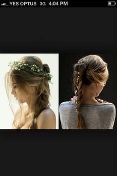 Whimsical wedding hair