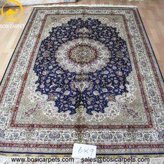 Hand knotted silk rug # Rug No.: P0122 # Quality: 230L (368kpsi) # Size: 6x9ft (274x366cm) # Material: 100% Silk # wholesale Price: $2430/piece # If you have any interests, please email to sales@bosicarpets.com     #Hand-madecarpet#orienatlrug#oldrug#Kashmirrug#Chinacarpet#Iraniancarpet#boteh#HeratiGul# Isfahan#Tabriz#Qum#Nain#Kashan#Kerman#Bijar#Sarouk#Caucasian#antiquecarpet#bosicarpet