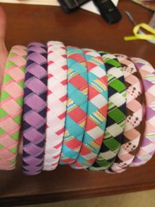Woven Headband Tutorial. I have girls. I better learn how to make hair accessories.