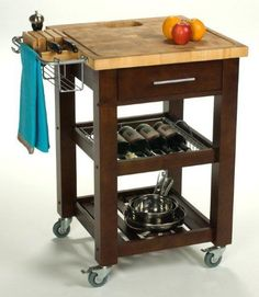 Portable Kitchen 379 Island Commercial Grade Locking Casters Convenient Knife