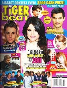 Tiger Beat Magazine One Direction Selena Gomez Justin Bieber Taylor Swift 2012 for sale online My Magazine, Magazine Articles, Magazine Covers, Taylor Swift 2012, Justin Bieber Selena Gomez, Read Magazines, Tiger Beat, Perfect Boyfriend, Cash Prize