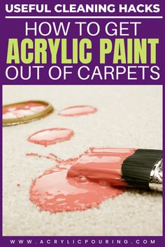 We'll teach you how to get acrylic paint out of carpet and tips on how to avoid making a mess when painting! Remove Paint From Carpet, Remove Acrylic Paint, Flow Painting, Watercolor Tips, Watercolor Paintings Abstract, Acrylic Painting Tutorials, Painting Lessons, Pour Painting, Abstract Oil